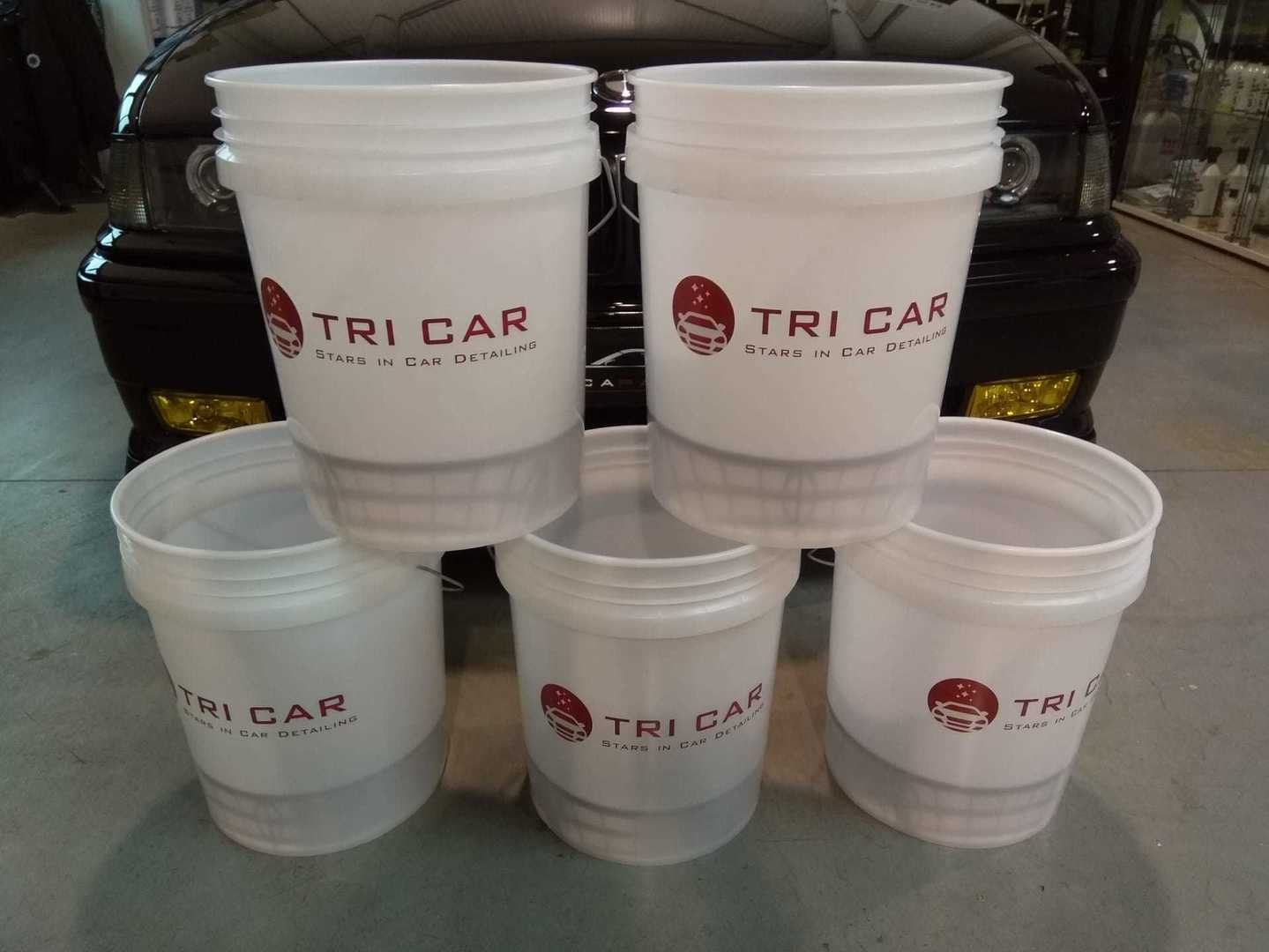 Bucket TriCar met grid guard insert